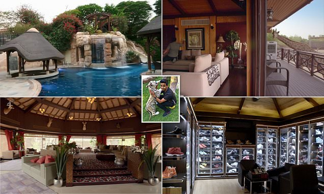 Inside the home of rich kid of Dubai, 16, who has his own private ZOO