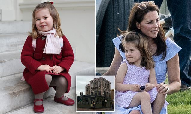 The Royal wee! Princess Charlotte nips into London pub to use toilet