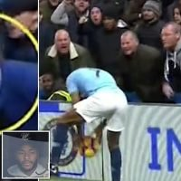 Hunt for Chelsea fan who 'called Raheem Sterling a black c***'