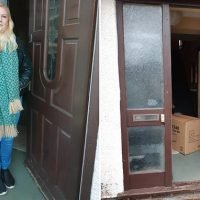 Amazon delivery driver leaves door wide open after delivering parcel