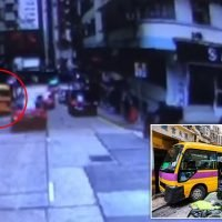 Two dead and 12 injured after school bus mounted pavement in Hong Kong