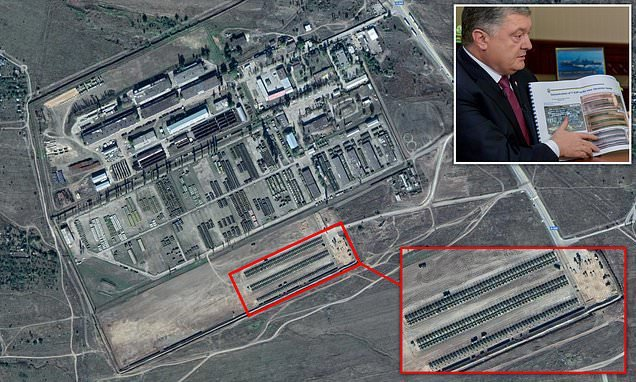 Satellite images which Ukraine say proves Russia is amassing its army