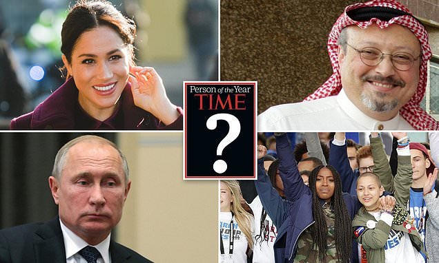 Meghan Markle against Trump, Putin & Khashoggi for TIME person of year