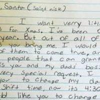 Girl asks Santa to change her dad's work shift instead of sending toys