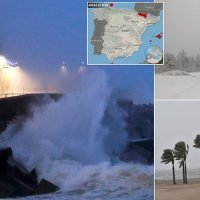 'High risk' weather warnings across Spain with snow and high winds