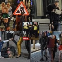 Festive party-goers collapse on streets after night of heavy drinking