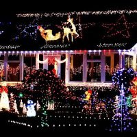 Use 2,683 LED lights if you want your house to be spotted from space