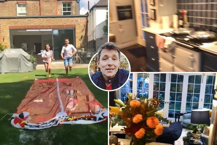 Inside Ben Shephard's incredible London home with beautiful garden, free-standing bath in the bedroom and huge kitchen
