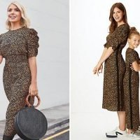 Holly Willoughby's leopard print dress from new Marks & Spencer edit has a matching jumpsuit for kids