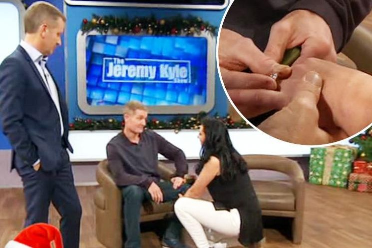 Jeremy Kyle viewers left in tears as former drug addicts get engaged despite her sex romps with his best friend