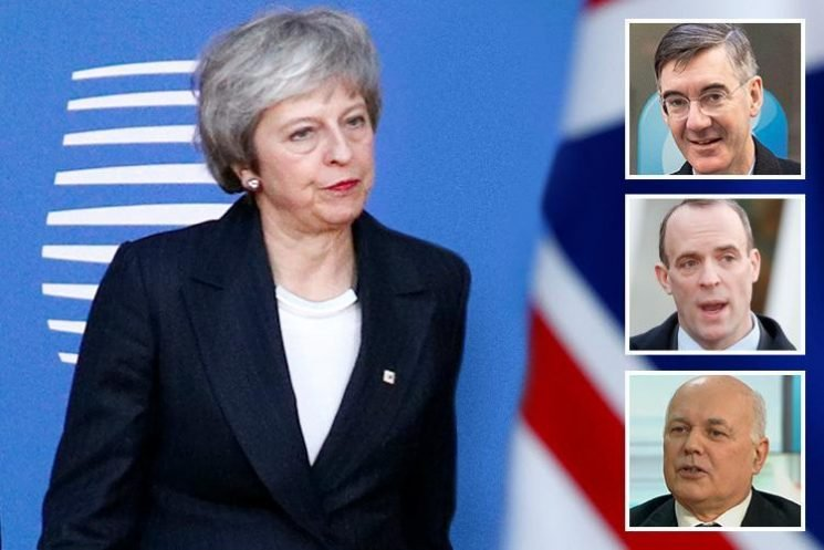 Brexiteers openly fight over whether to finish off Theresa May after wounding confidence vote as party is torn apart by bitter row