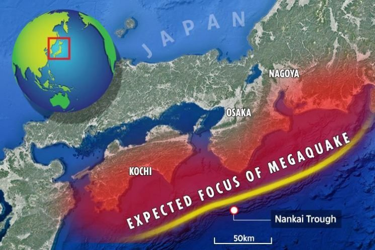 Japan preparing for monster earthquake and 30-METRE tsunami that could kill and hurt ONE MILLION in next 30 years