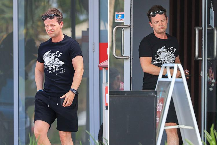 Declan Donnelly finally gets his massage during a break from filming I'm A Celebrity