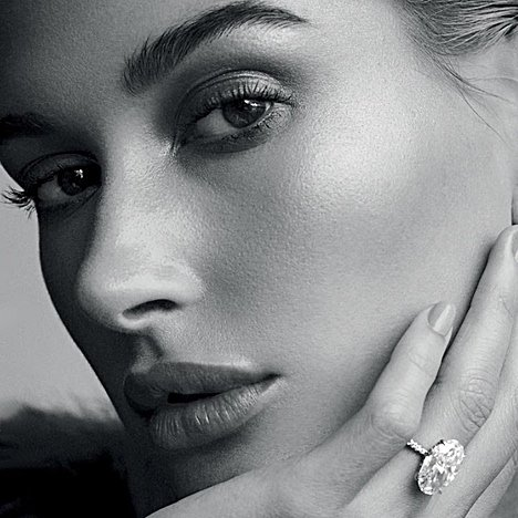 Hailey Bieber Covers 'Vogue Arabia,' Talks About How Normal She Is While Flashing 10-Carat Engagement Ring