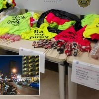 Benidorm cops ban offensive t-shirts, willy sweets and plastic BOOBS in latest crackdown on Brit hen and stag dos