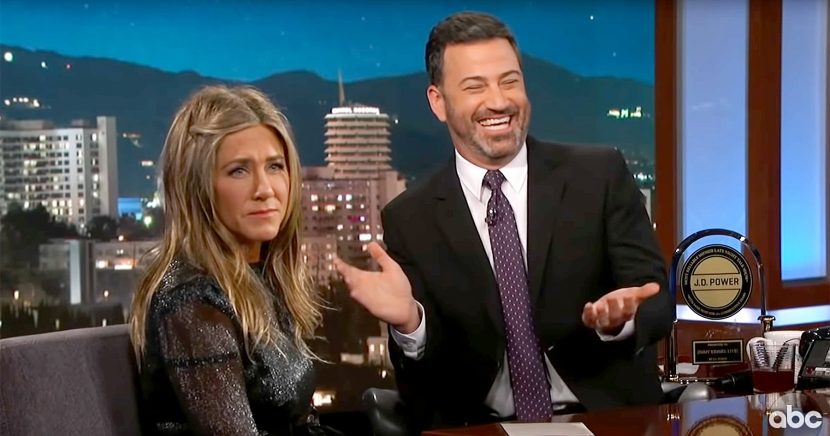 Jimmy Kimmel's Kid Did Something Pretty Gross at Jennifer Aniston's House