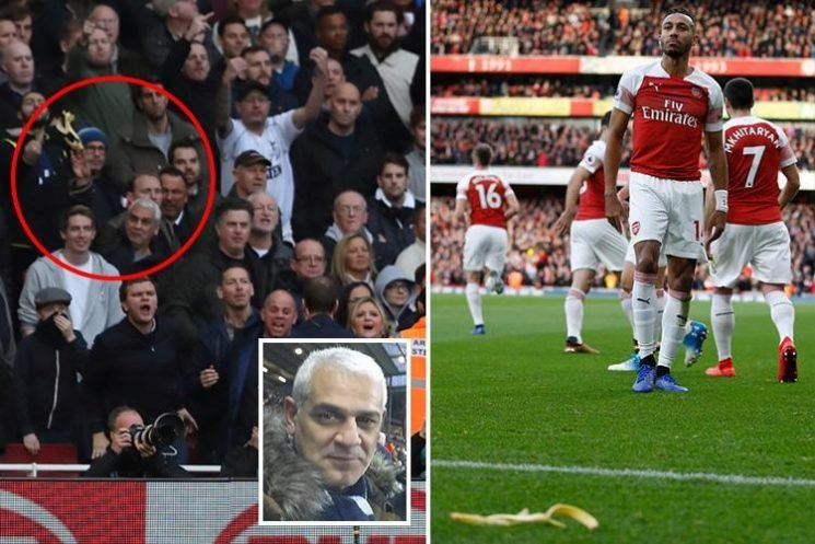 Van driver charged with throwing banana skin at Arsenal star Pierre-Emerick Aubameyang says: 'I'm NOT racist'