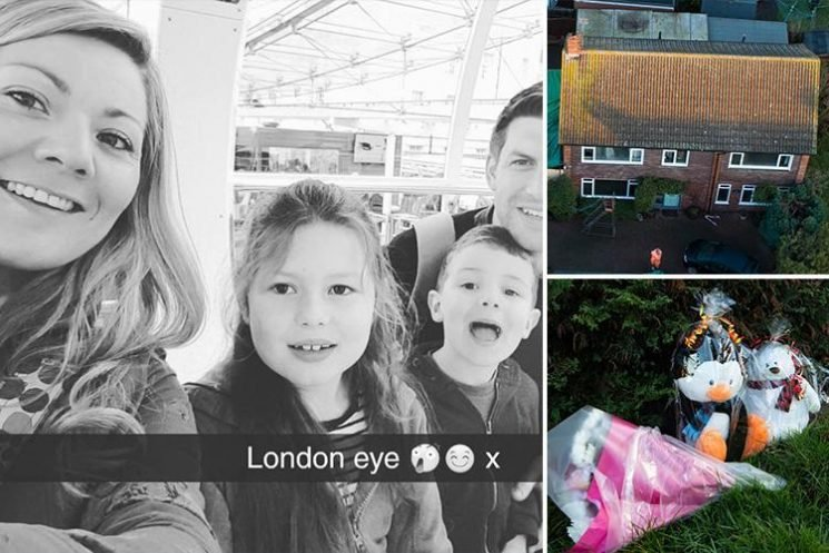 First picture of mum, 33, and two children, 8 and 5, killed in house blaze as dad fights for life