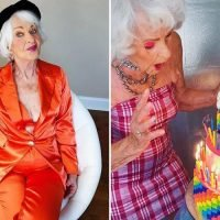 Fashion Nova reveal new model as 90-year-old Helen Van Winkle – who loves posing in skimpy bikinis and confesses she has 'been stealing your man since 1928'