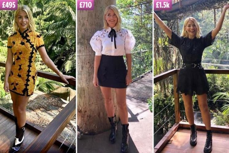 This Morning hosts HAVE to wear high-street brands… but Holly Willoughby is making up for it with an I'm A Celeb wardrobe worth thousands