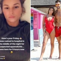 Love Island's Zara McDermott rushed to hospital with suspected appendicitis