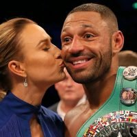 Who is Kell Brook's wife Lindsey Myers, how many children do they have and who is the Sheffield boxer facing?