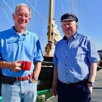 What time is Britain by Boat on Channel 5 and who's hosting along with Michael Buerk?