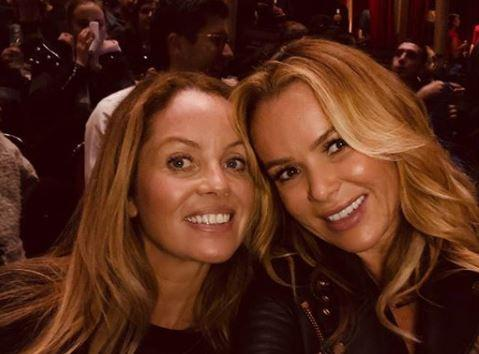Amanda Holden stuns fans with a snap of her lookalike sister Deborah at Muse gig