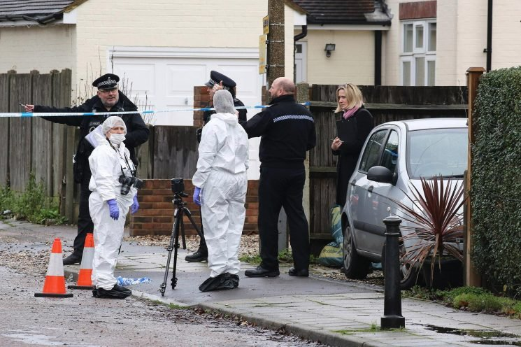 Man fighting for life after being shot in the FACE during savage attack in Hertfordshire