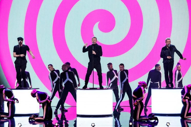 Take That kick off Royal Variety Performance 2018 in front of pregnant Meghan Markle and Prince Harry