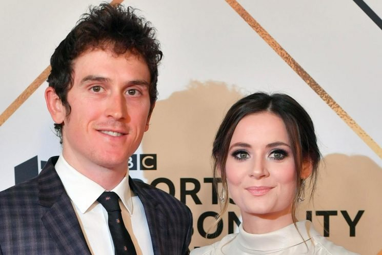 Who is Geraint Thomas' wife Sara Elen, and when did she marry the Tour de France winner and Sports Personality of the Year nominee?