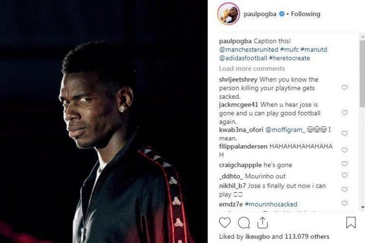 Man Utd to fine Paul Pogba for posting smirking image after Jose Mourinho firing
