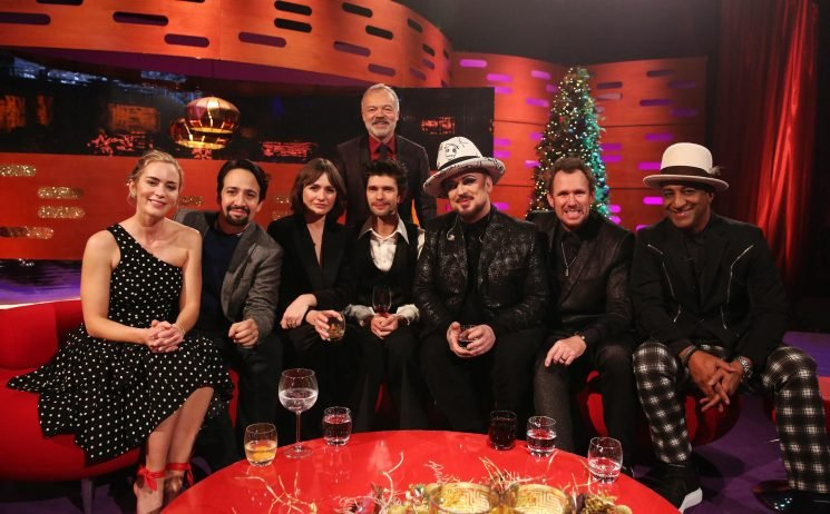 Who's on the Graham Norton show tonight? Mary Poppins Returns stars Emily Blunt, Lin-Manuel Miranda, Emily Mortimer and Ben Wishaw