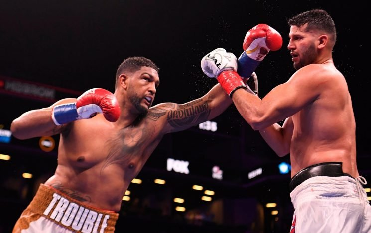 AJ could be left waiting as Dominic Breazeale calls out Wilder after brutal KO of Carlos Negron