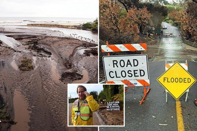 Flooding and mudslides in California bring carnage to neighbourhoods devastated by wildfires