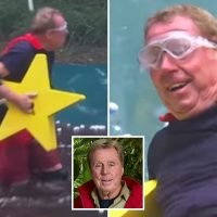 Harry Redknapp, 71, shouts that he needs a WEE during I'm A Celeb's Celebrity Cyclone trial as he dresses as a superhero to battle strong winds