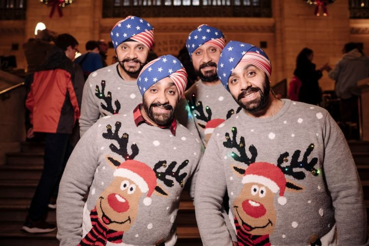Sikh bros light up NYC with 'ugly' sweaters, American flag turbans