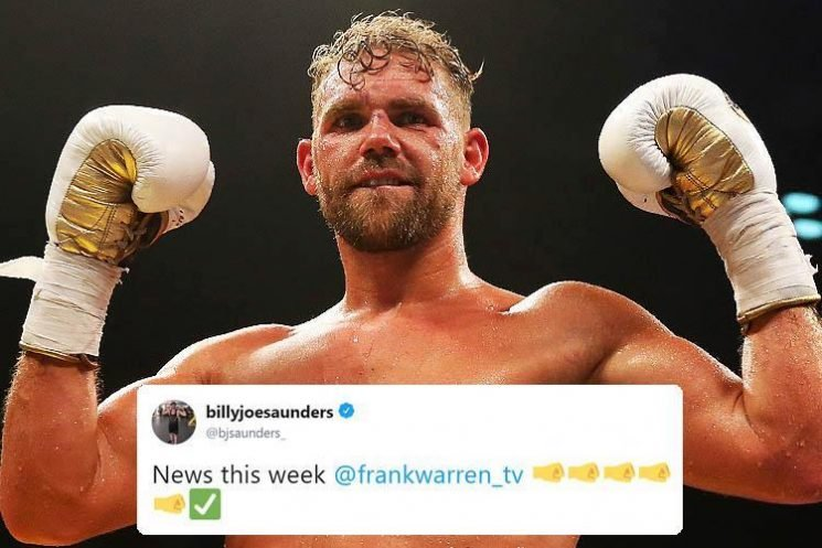 Billy Joe Saunders hints at ring return announcement after being stripped of WBO belt following failed drugs test