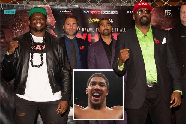 Anthony Joshua backs Dereck Chisora to 'whoop' rival Dillian Whyte in rematch