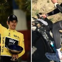 Geraint Thomas and pal hit road with sex toy instead of water bottle