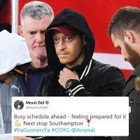 Arsenal fans are using Mesut Ozil's tweet to troll him after he was axed from Spurs clash