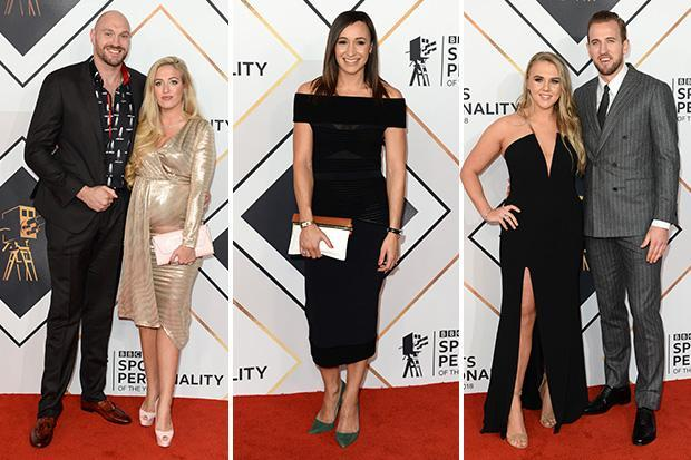 Harry Kane and Tyson Fury joined by glam Wags on red carpet for Sports Personality of the Year 2018