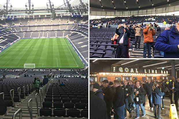 Tottenham give fans behind scenes look at new stadium with four-hour test event