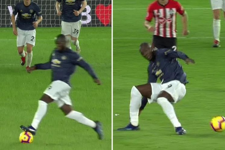 Man Utd fans turn on Romelu Lukaku after he injures himself falling over ball