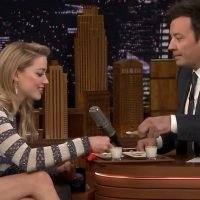 Jimmy Fallon Challenges 'Aquaman' Star Amber Heard to Very Spicy Competition on 'Tonight Show'