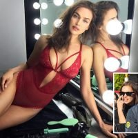 Irina Shayk wows in red as she settles down for Christmas with Bradley Cooper