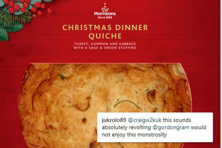 Morrisons is selling a Christmas dinner QUICHE containing turkey, gammon and sage for just £2 – and people think it sounds 'revolting'