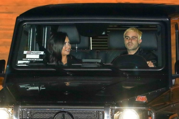 Demi Lovato and Clothing Designer Henry Levy Show PDA While Grabbing Dinner in L.A.