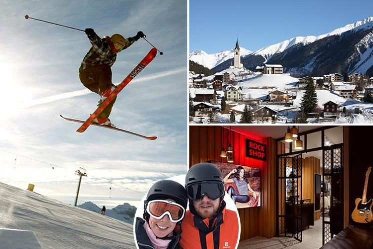 Swiss ski resort Davos is rolling with its new rock 'n' roll accommodation