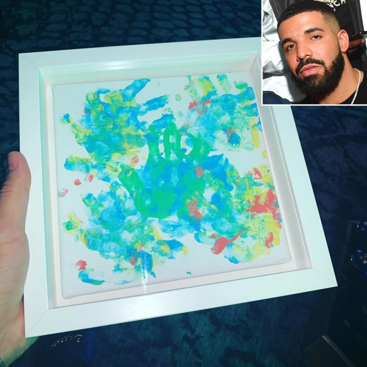 Proud Dad Drake Shows Off a Painting Done by His 14-Month-Old Son: 'Adonis > Picasso Don't @ Me'